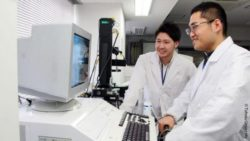 Image: Two physicians in front of a computer; Copyright: Tohoku University