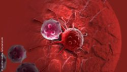 Graphic: Cancer cell in bloodstream