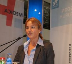 Image: Britta Böckmann during her lecture at MEDICA ECON FORUM; Copyright: beta-web/Dindas