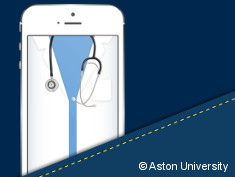 Graphic: Smartphone with a white coat on its surface