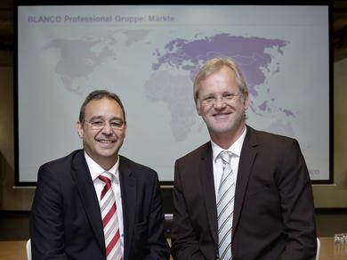 The Board of Directors of Blanco Professional GmbH + Co KG (from left): Roland Spleiss, Chief Executive Officer, and Stefen Walter, Chief Technical Officer.  Photo: Blanco Professional
