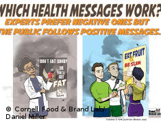 Photo: Cartoons showing health messages