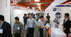 Packed walkways at the MEDICAL FAIR THAILAND 2015