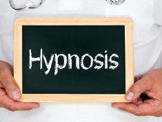 Photo: Sign reading Hypnosis