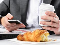 Photo: Smart Phone and breakfast