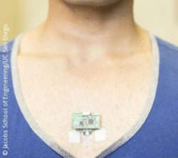 Photo: ChemPhys patch on a mens chest