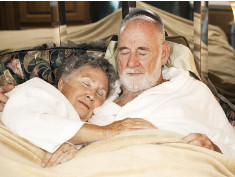 Photo: Man and woman sleep