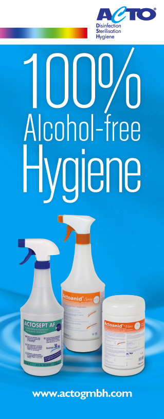 New Generation of Disinfectants 1 min. Effective Alcohol fre