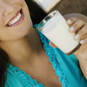 Photo: Woman drinking milk