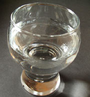 A glas with water
