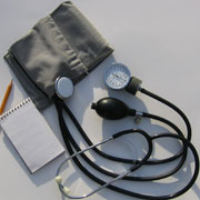 Photo: Blood-pressure gauge