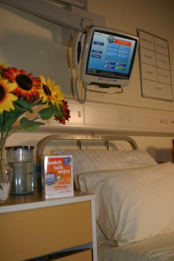 Patient Bedside Entertainment and Communication Terminal