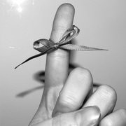 Photo: Ribbon around a finger