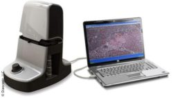 Image: Diascopic's iON platform next to a laptop; Diascopic, LLC