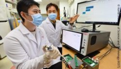 Image: testing urine samples using ultra-high-sensitive smart biosensors; Copyright: Korea Institute of Science and Technology (KIST)