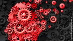 Image: head made of gear wheels which starts to dissolve on one side; Copyright: panthermedia.net/lightsource