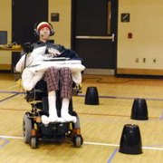photo: trial participant in a wheelchair