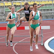 Photo: Women at hurdling