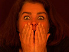 Photo: Scared woman