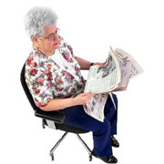 Picture: A senior woman reading