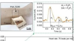 Image: wearable triboelectric nanogenerator; Copyright: Wenzhuo Wu/Purdue University