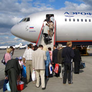 Picture: People boarding a plane