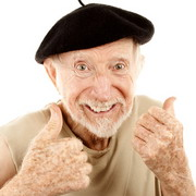 Photo: Older man laughing