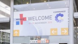 Image: Entrance of MEDICA trade fair halls; Copyright: Messe Düsseldorf