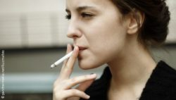 Photo: Smoking woman