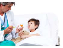 Photo: Child with a doctor
