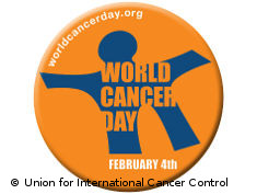 Graphic: Official logo of World Cancer Day