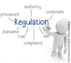 "Image: A 3D stick figure creates a mind map about ""regulation""; Copyright: panthermedia.net/Sarawut Aiemsinsuk"