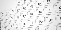Poto: Periodic table, nuclear elements foregrounded