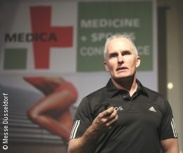 Image: Mark Versteegen at MEDICA MEDICINE + SPORTS CONFERENCE 2015