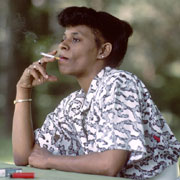 Picture: Woman smoking a cigarette