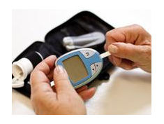 Photo: Blood sugar measurement
