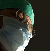 Photo: Concentrated looking surgeon