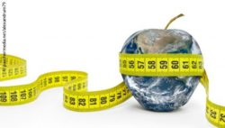 Image: Graphic of the Earth in the shape of an apple, with a measuring tape wrapped around it; Copyright: panthermedia.net/alexandrum79