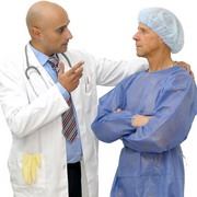 Photo: Physician consults a patient