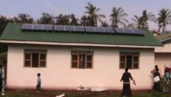 Photo: House in Africa with solar panels on the roof