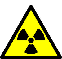 Picture: Warning sign for radioactivity