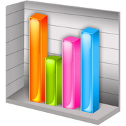 Photo: A bar chart with four bars of different hight