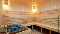 Image: interior of a Finnish sauna; Copyright: panthermedia.net/mazzachi