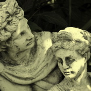 Photo:Sculpture of a man and a woman