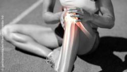 Image: athlete with knee pain; Copyright: panthermedia.net/Wavebreakmedia Itd