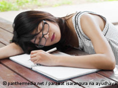 Photo: Sleeping teenage girl