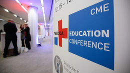 Photo: Display of MEDICA EDUCATION CONFERENCE