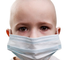 Photo: Child with cancer