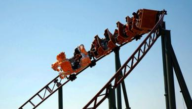 Photo: Rollercoaster in a theme park