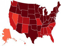 Photo: Twitter flu map 2013
